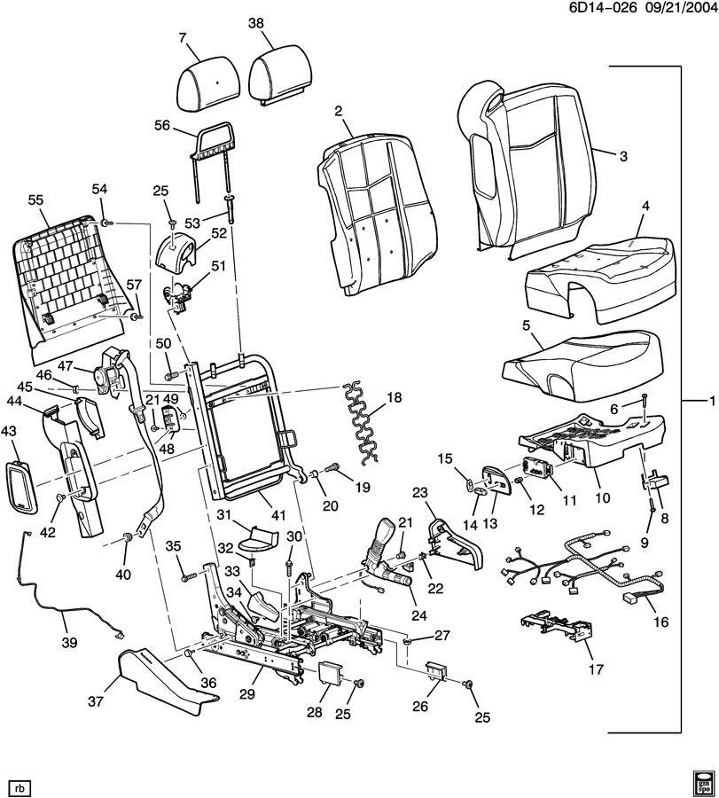 Cadillac CTS SEAT ASM/DRIVER; SEAT ASM/PASSENGER