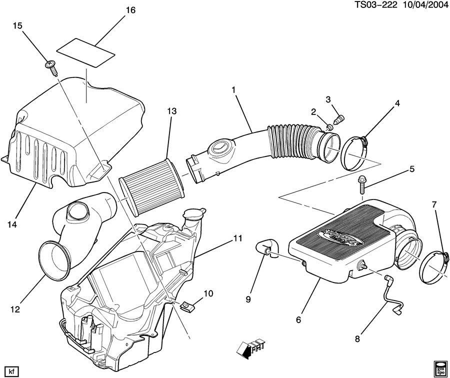 Chevrolet TRAILBLAZER Resonator. Air cleaner intake