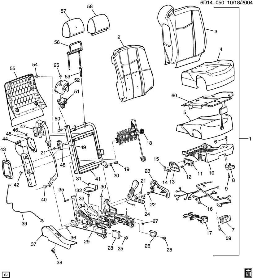 Cadillac CTS Module kit. Inflatable restraint system