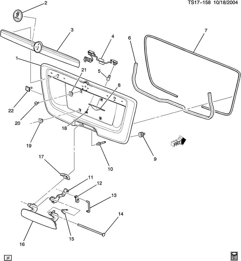Chevrolet TRAILBLAZER Stud. Bolt. Main wiring junction and