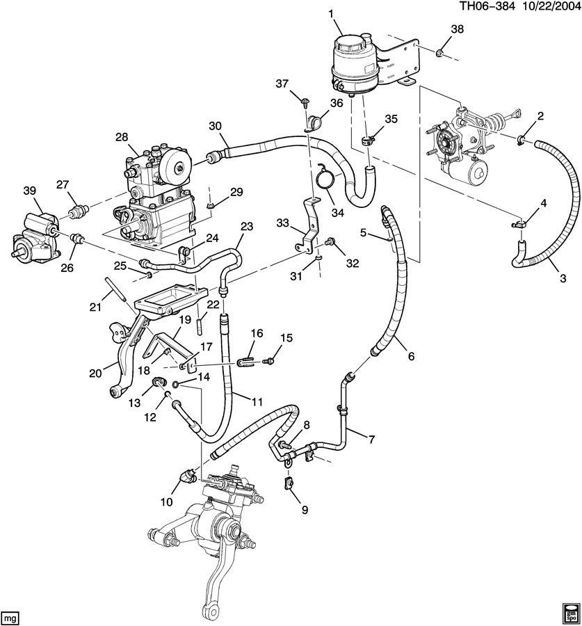 GMC C8500 Hose. Steering gear oil return. Compkyd, otltuse