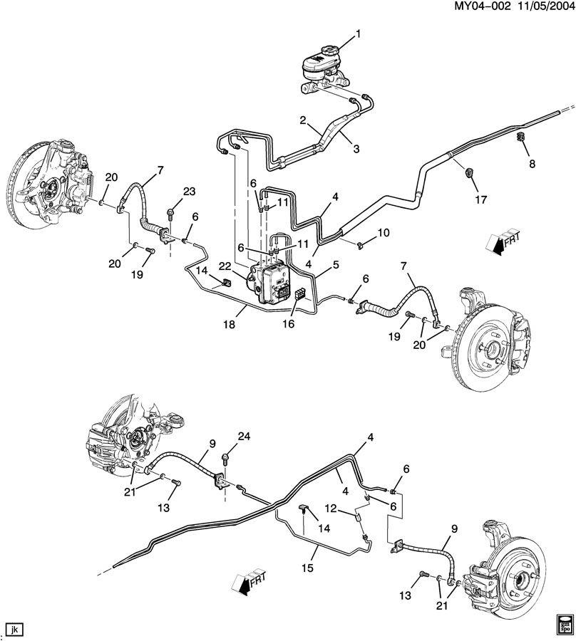 2006 Chevrolet Corvette Hose. Hydraulic brake. Hose, frt