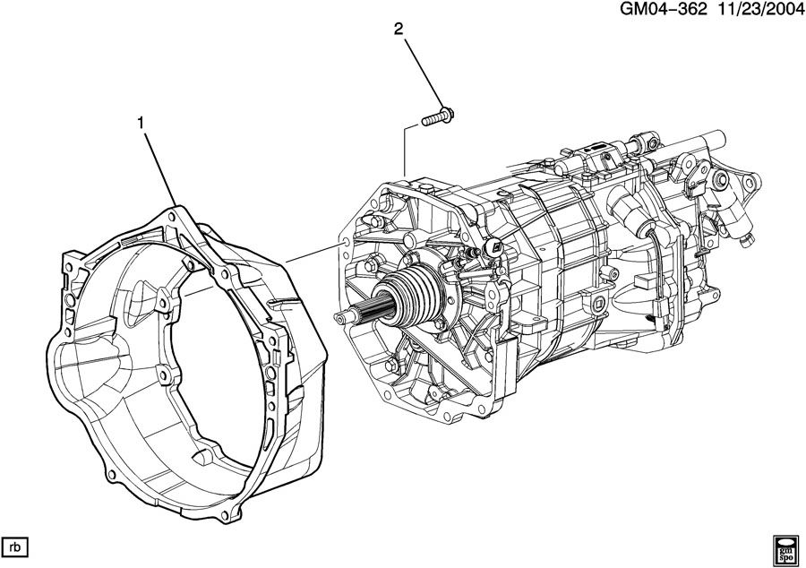 2007 Cadillac CTS V 4DR Housing. Engine clutch housing