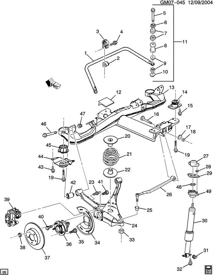 Buick Lesabre SUSPENSION/REAR