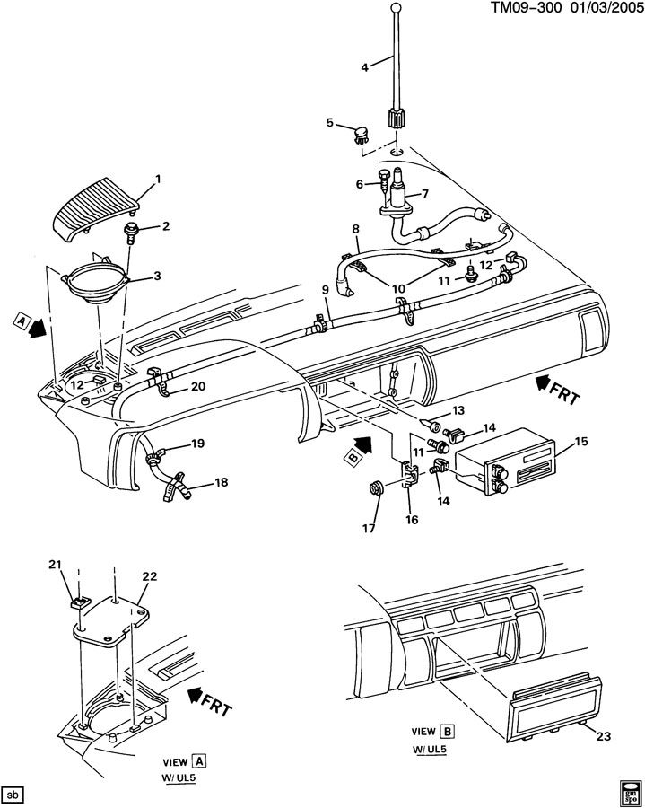 GMC SAFARI AUDIO SYSTEM-FRONT