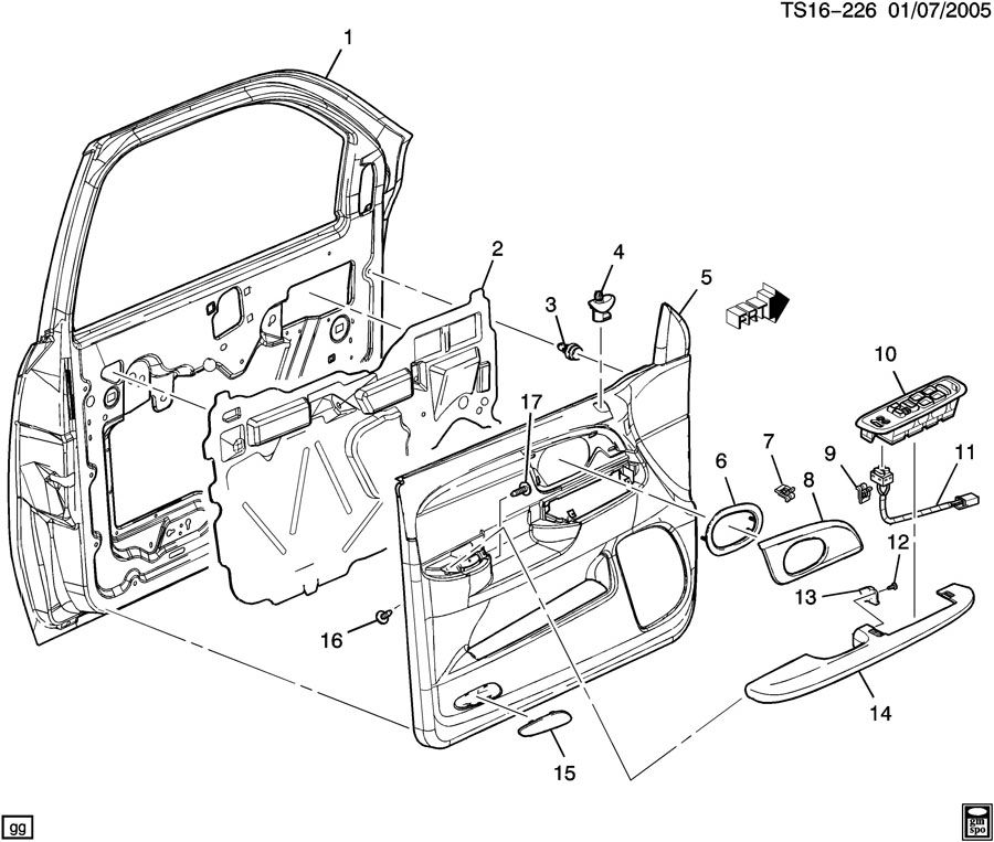 [2004 Buick Century Driver Door Latch Repair Diagram