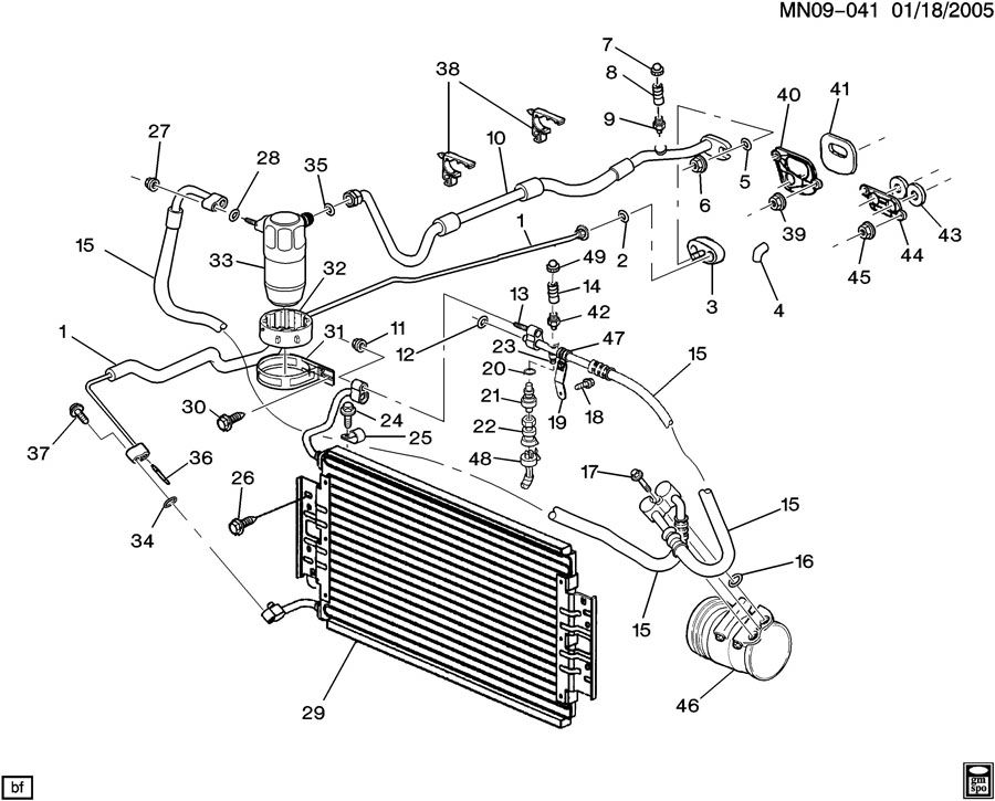 2001 Oldsmobile Alero Cooling System Diagram