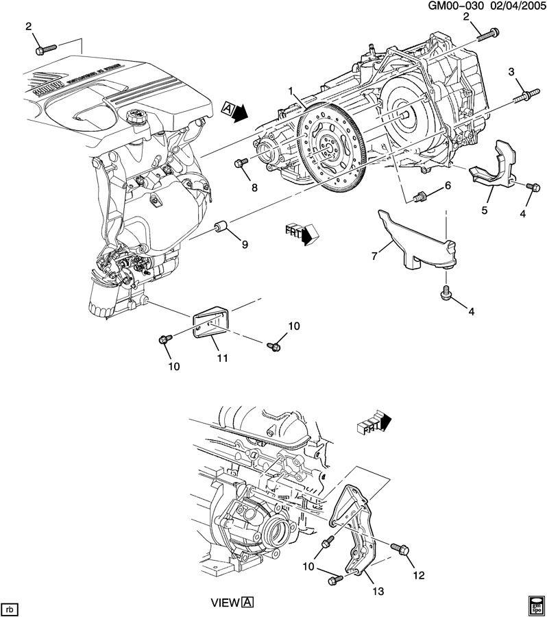 Chevrolet Impala Bracket. Mount. Transmission. Brace
