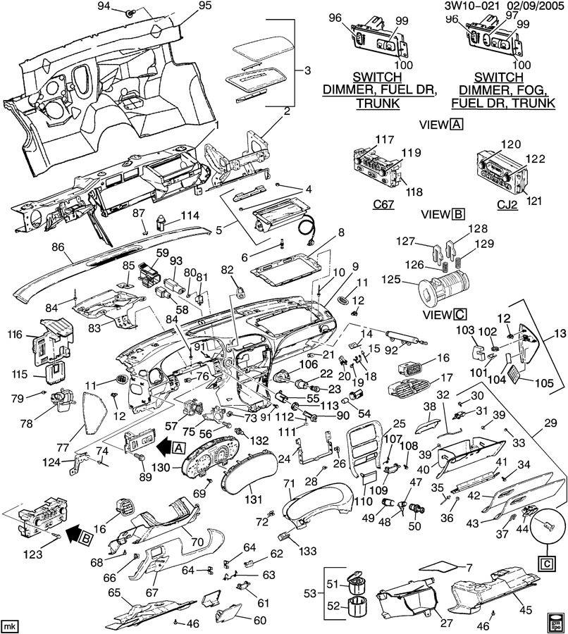 1994 Saturn S-Series Retainer. Clip. Floor console