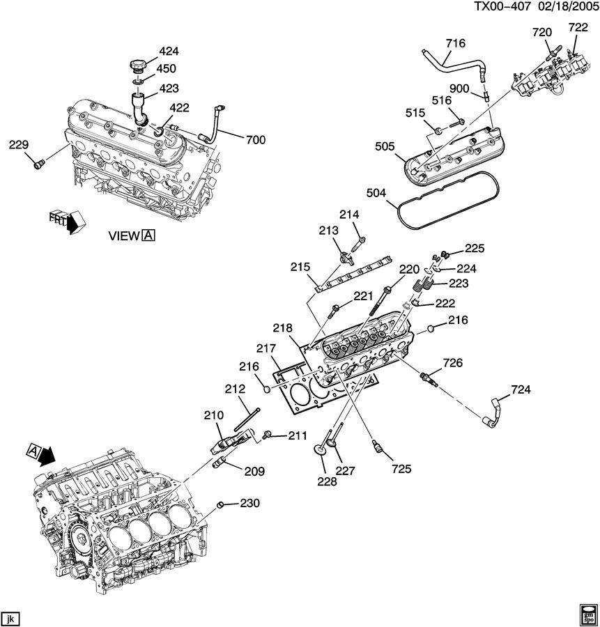 2006 Chevrolet TRAILBLAZER SS Rod. Engine valve push rod