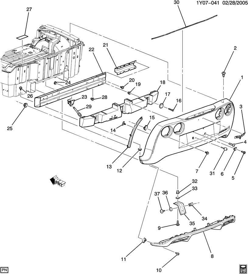 Chevrolet Corvette Hook. Towing. Hook, rr tow. Hook, frt