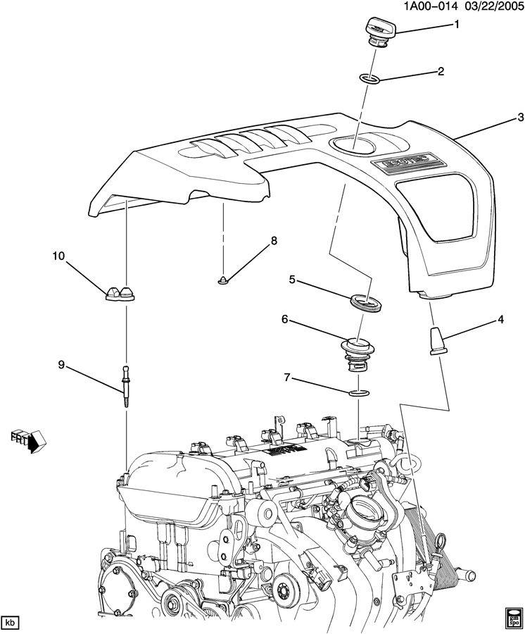 Chevrolet Cobalt Grommet. Engine fuel intake manifold