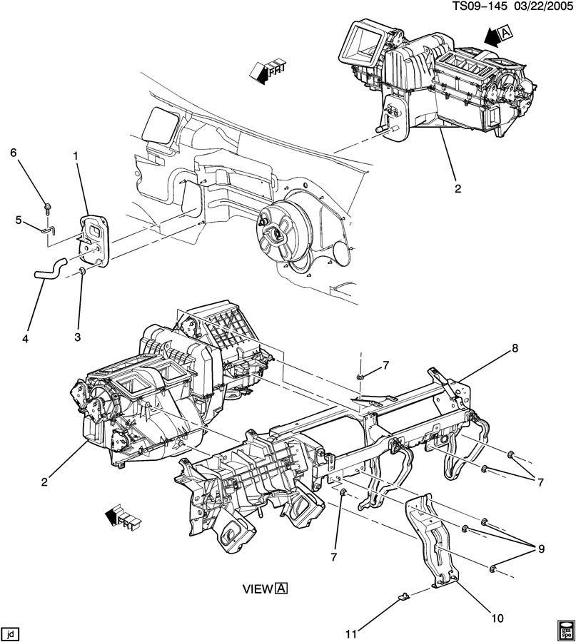 2002 GMC ENVOY A/C & HEATER MODULE ASM MOUNTING