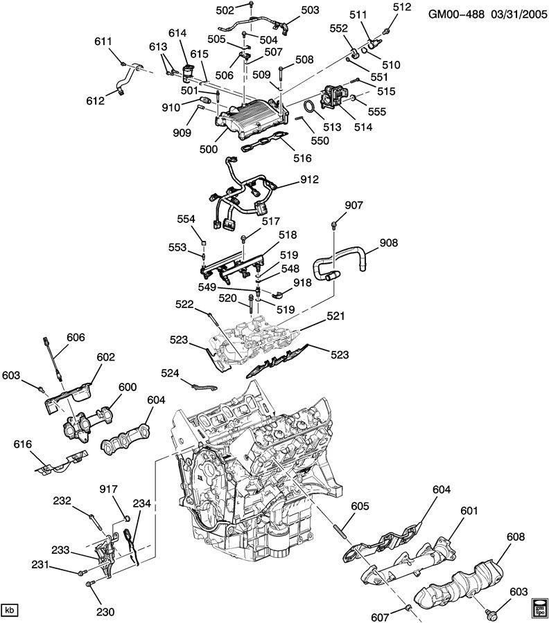 ENGINE ASM-3.5L V6 PART 5 MANIFOLDS & FUEL RELATED PARTS
