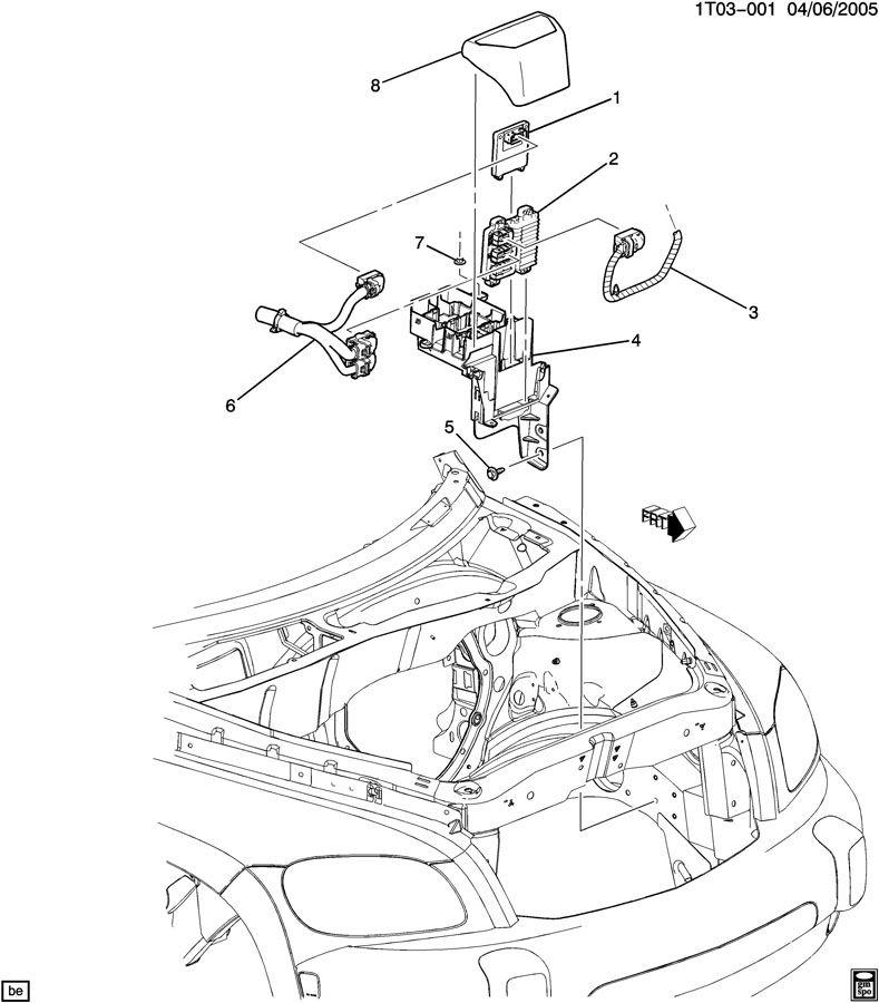 Chevrolet HHR Module. Emission control system