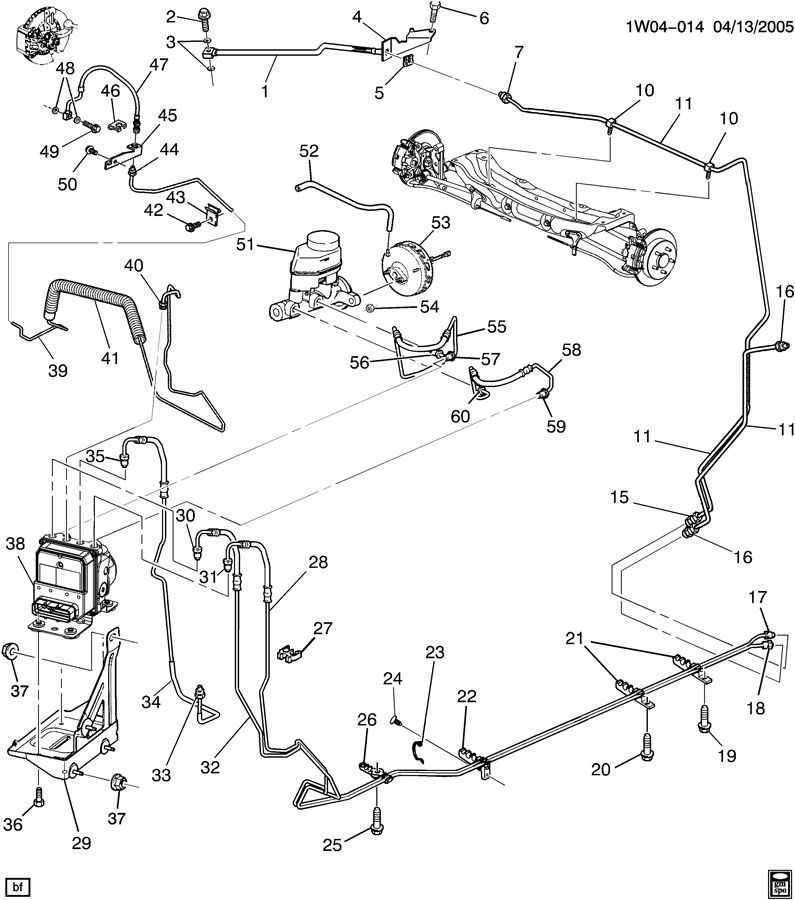 Chevrolet Monte Carlo Pipe. Hydraulic brake. Pipe, frt brk