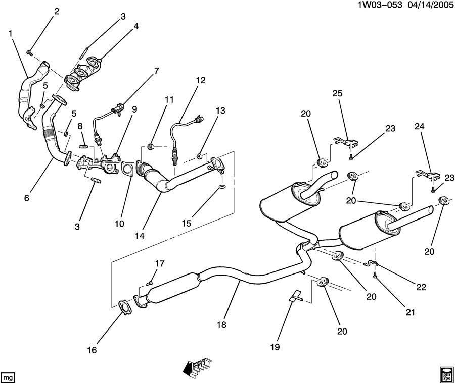Chevrolet Impala Bracket. Exhaust muffler/resonator