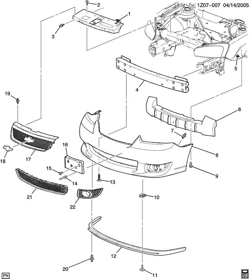 Chevrolet Malibu Deflector. Bumper/fascia. Deflector, frt