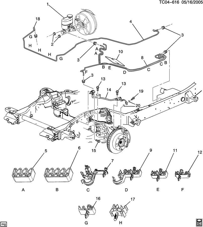 Chevrolet Silverado BRAKE LINES/FRONT