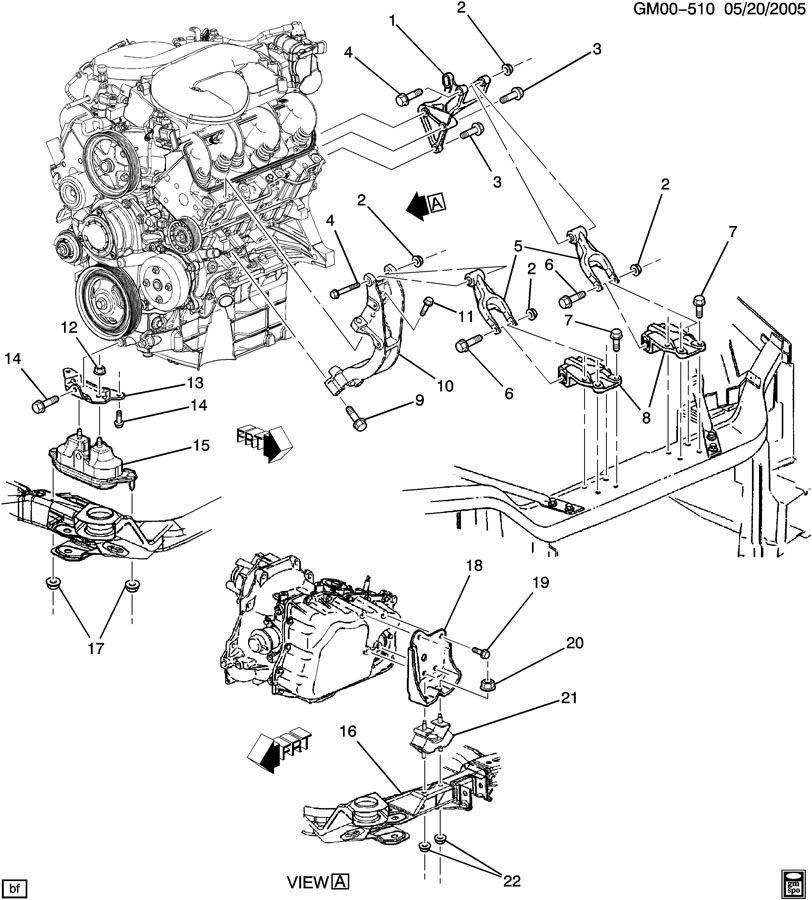 Pontiac MONTANA ENGINE & TRANSAXLE MOUNTING