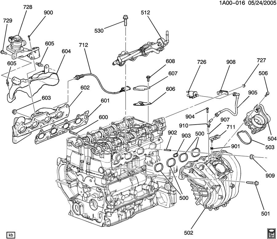 Saturn Vue Manifold. Engine fuel intake manifold. Manifold