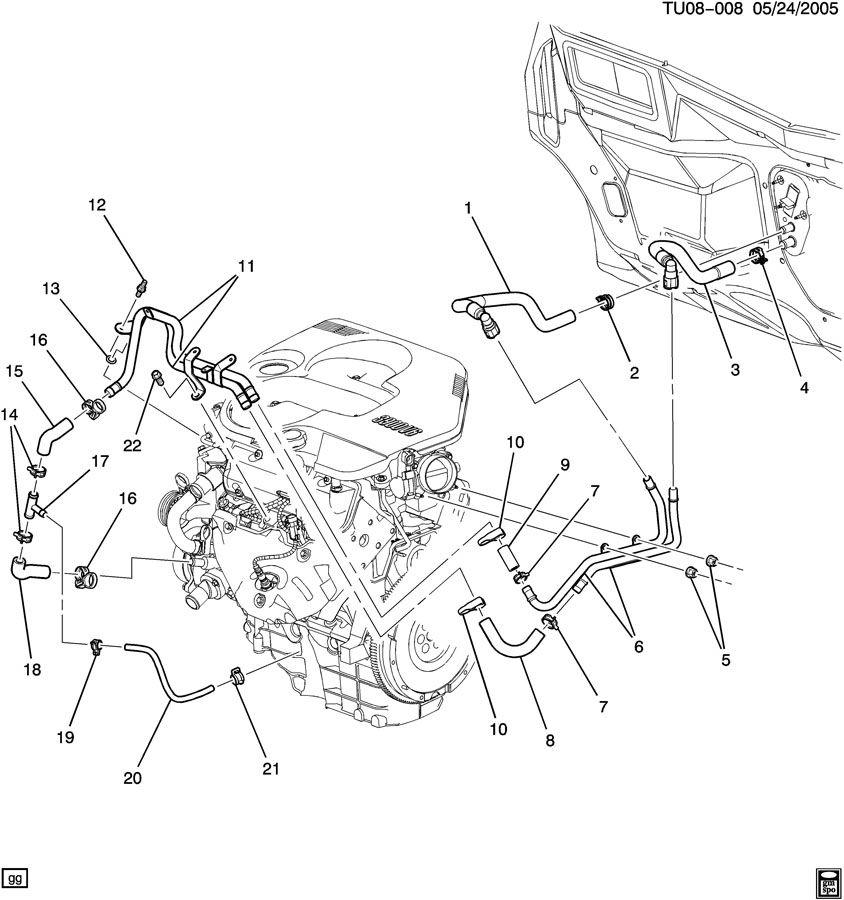 Chevrolet UPLANDER HOSES & PIPES/HEATER