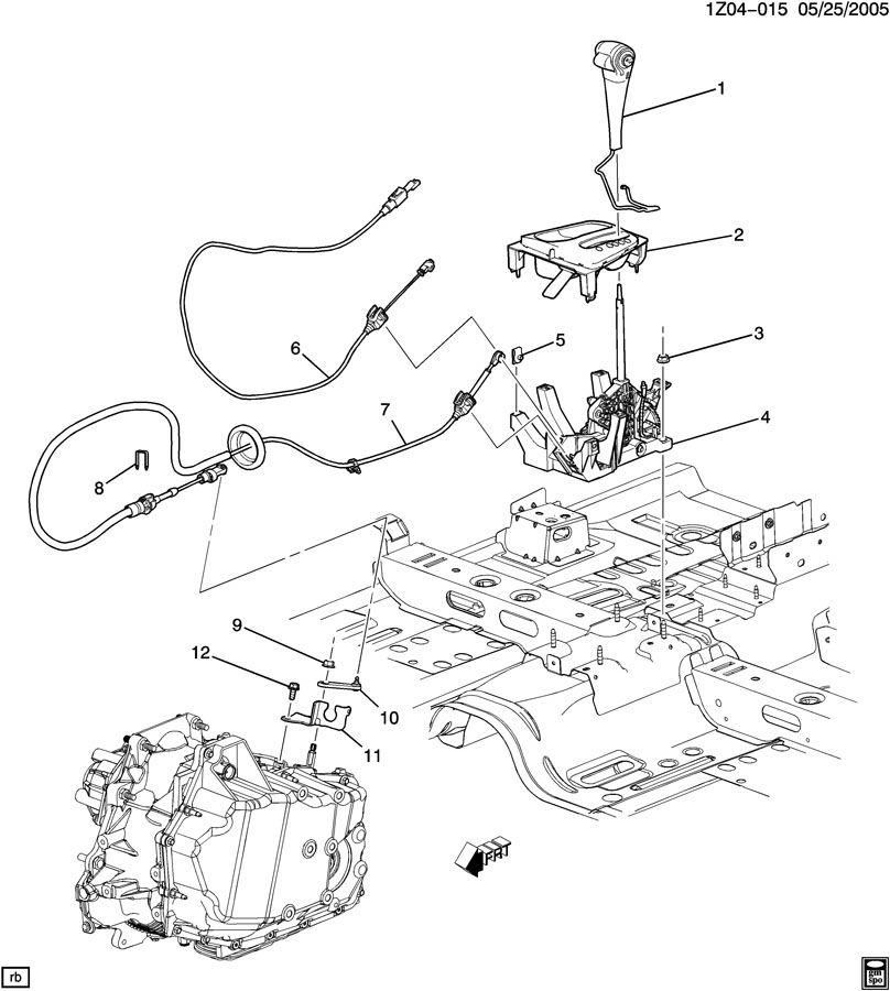 2007 Chevrolet Malibu SHIFT CONTROL/AUTOMATIC TRANSMISSION