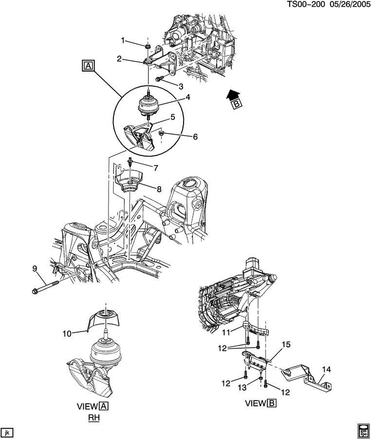 2003 Chevrolet TRAILBLAZER Bracket. Engine mounting