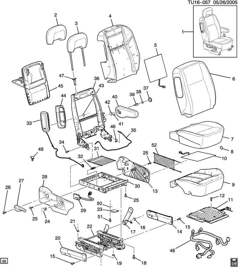 2007 Pontiac MONTANA PASSENGER SEAT/BUCKET