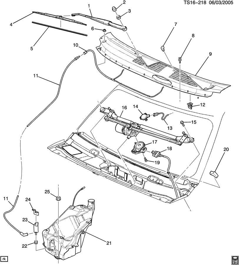 Chevrolet TRAILBLAZER Cover kit. Windshield wiper motor