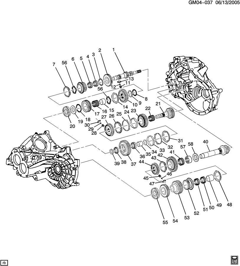Chevrolet HHR Insert. Transmission synchronizer. Key