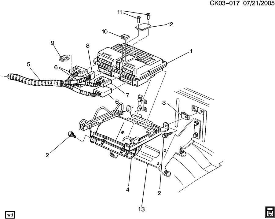 GMC C4500 Module. Emission control system