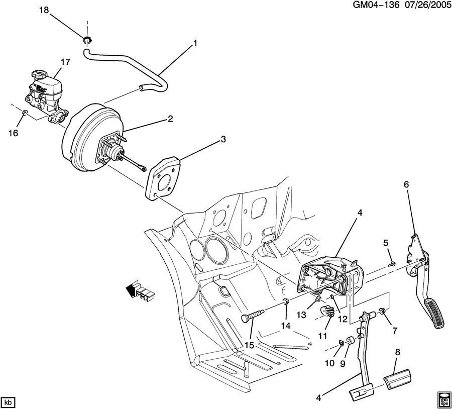 2002 Chevrolet Silverado Retainer. Brake master cylinder