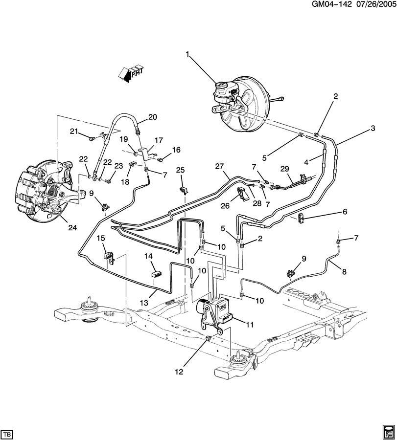 Buick Lucerne Hose. Hydraulic brake. Hose, frt brk(acdelco