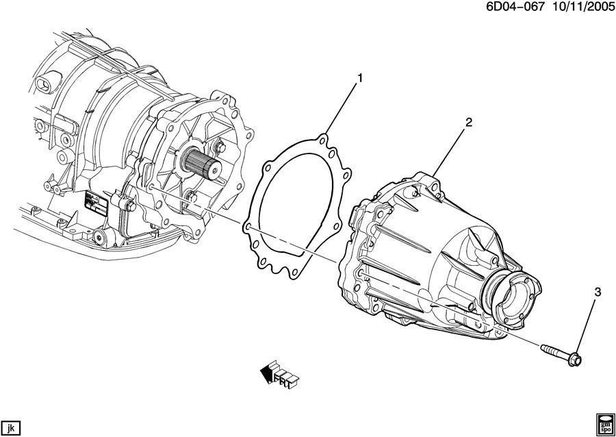Cadillac CTS Gasket. Transfer case. Gasket, trfer case