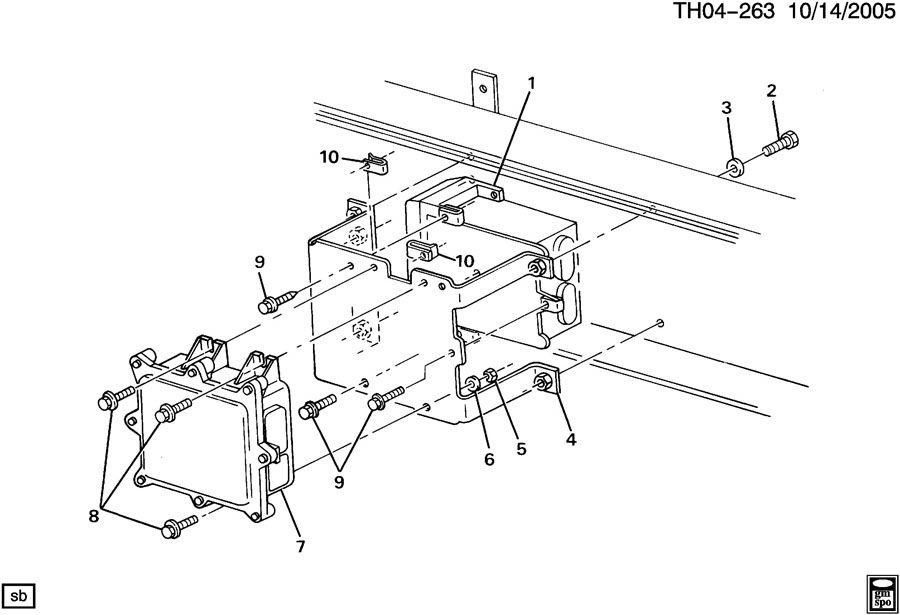 GMC C7500 Bracket. Transmission control module. Bracket