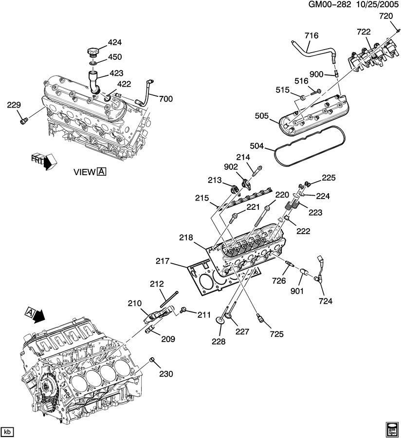 Chevrolet AVALANCHE Tube. Engine crankcase. Lengthl
