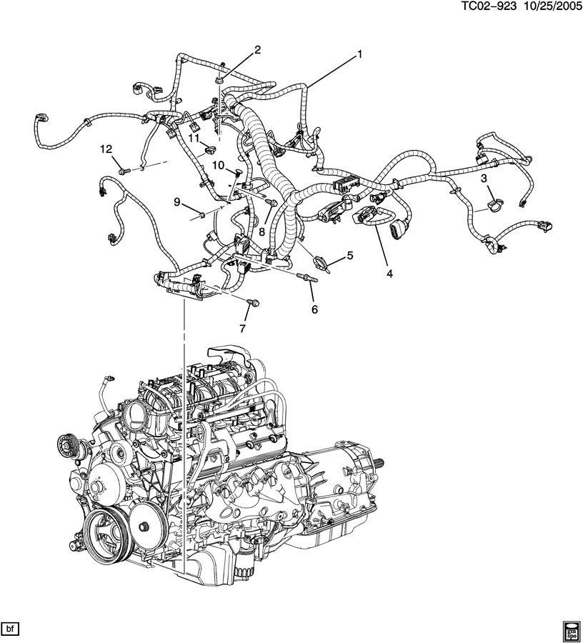 gm 5.3 engine wiring harness