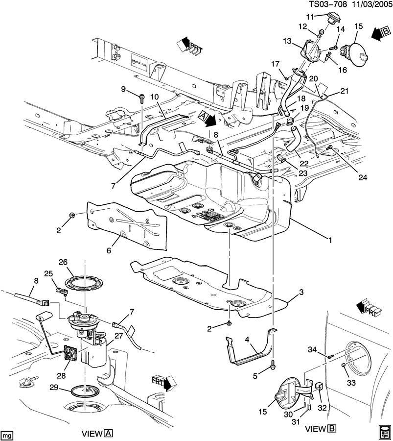 Chevrolet COLORADO Hose. Evaporation emission system (fuel