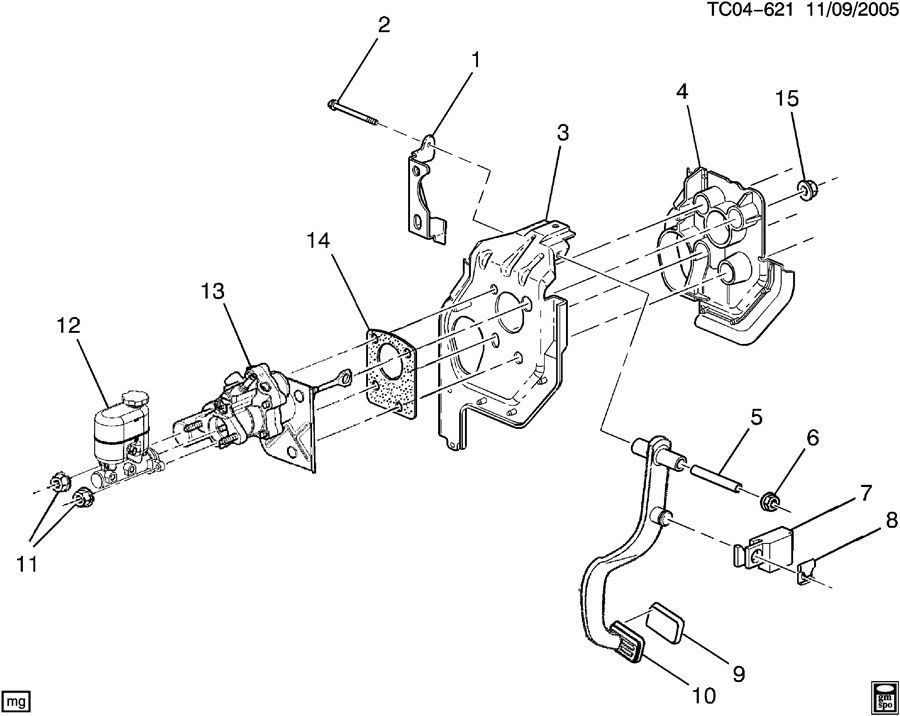 Chevrolet Silverado Retainer, brake pedal push rod