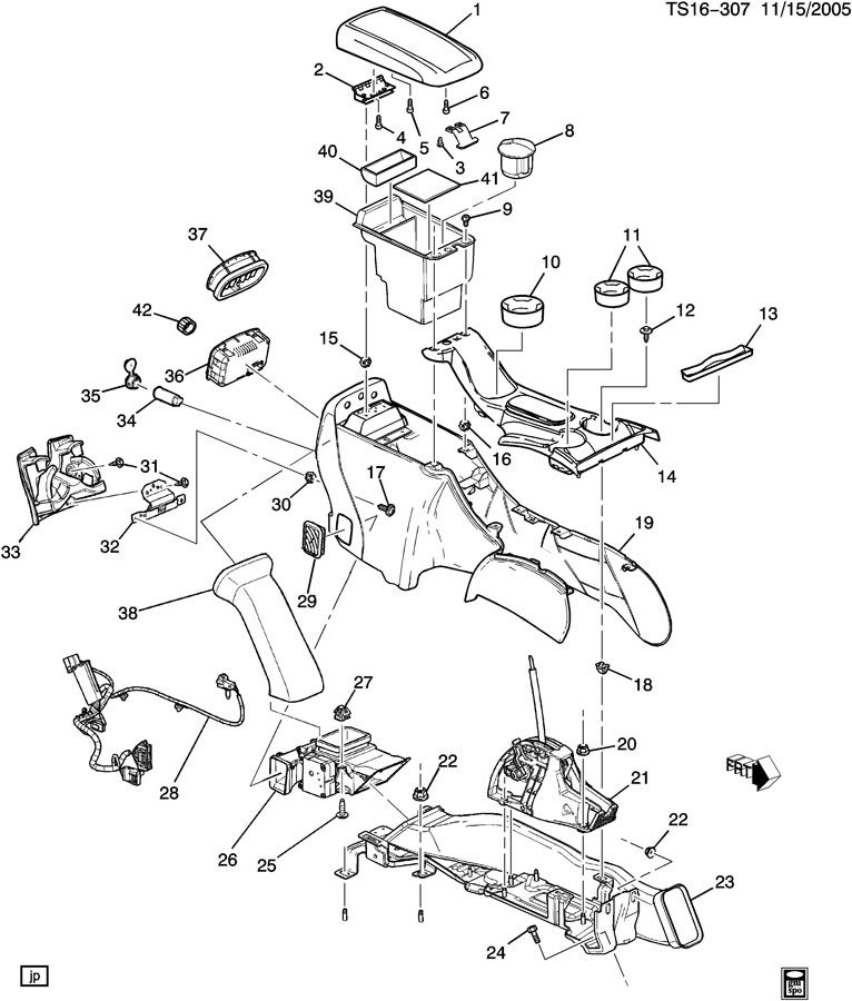 Chevrolet TRAILBLAZER Console. Seat separator console