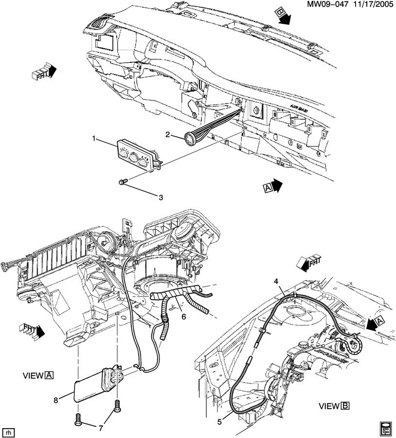 Chevrolet Monte Carlo Tank. Air conditioning (a/c) vacuum