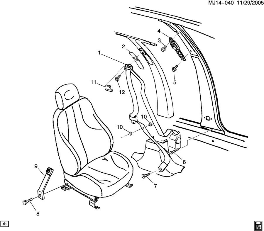 2001 Pontiac Sunfire SEAT BELTS/FRONT DRIVER