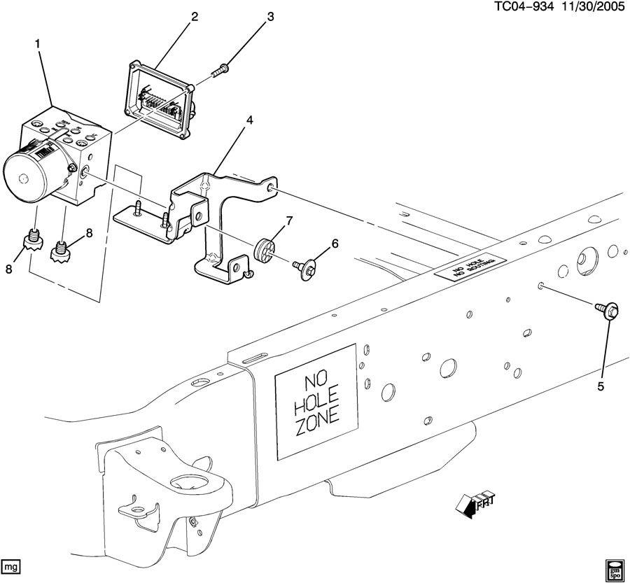 Chevrolet Silverado Module. Electronic brake control
