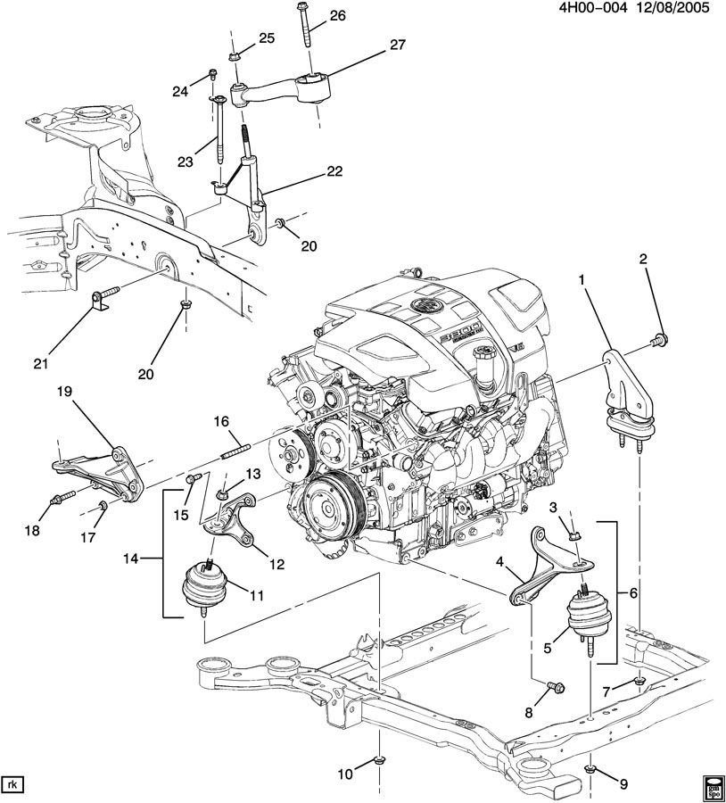 ENGINE & TRANSMISSION MOUNTING-V6
