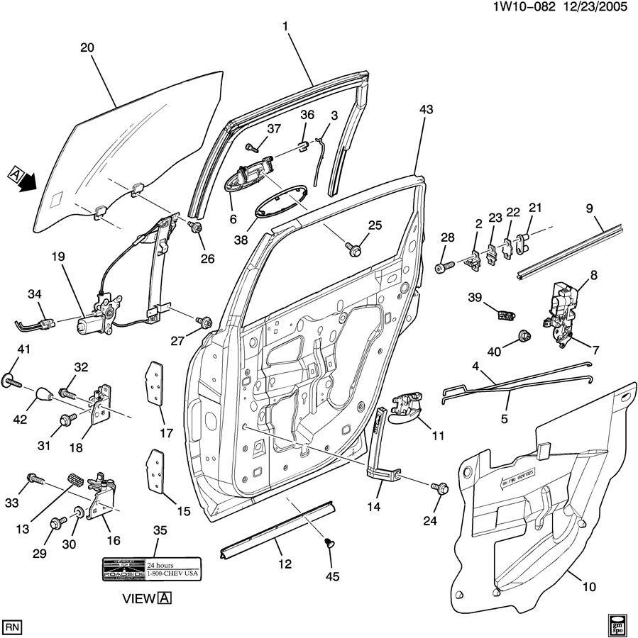 Chevrolet Monte Carlo Interior Door Handle (Upper, Lower