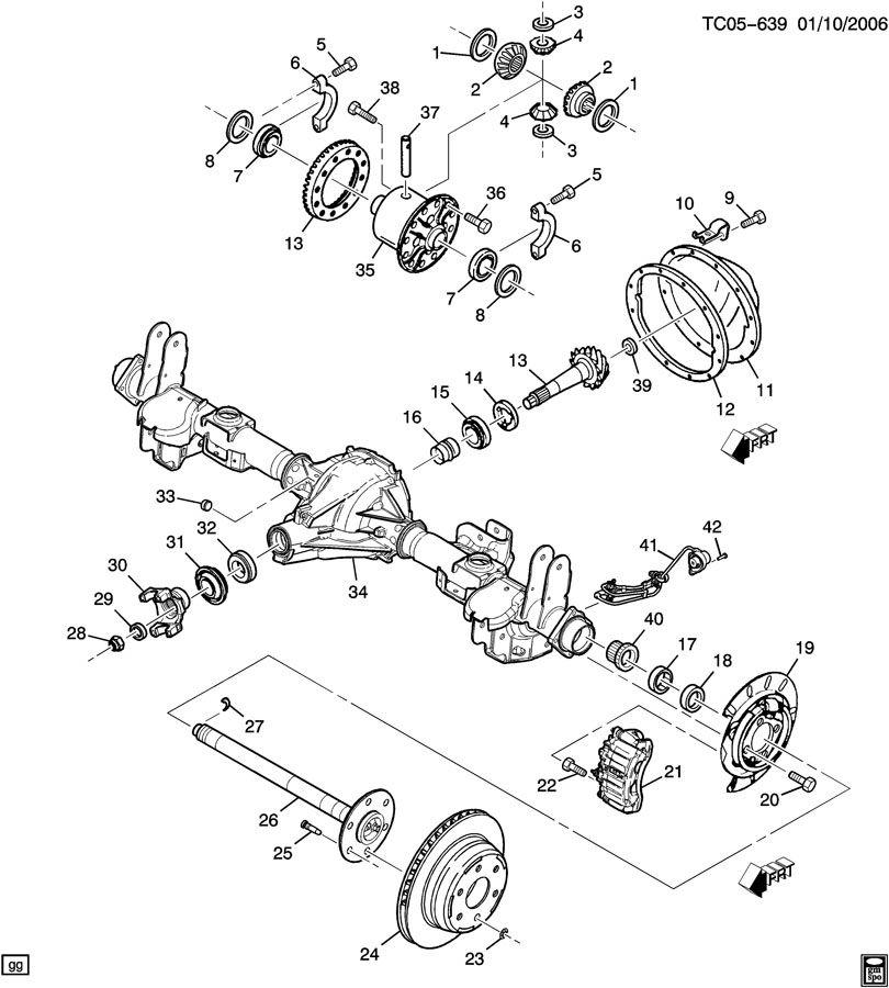 Chevrolet Silverado AXLE ASM/REAR 8.625 RING GEAR