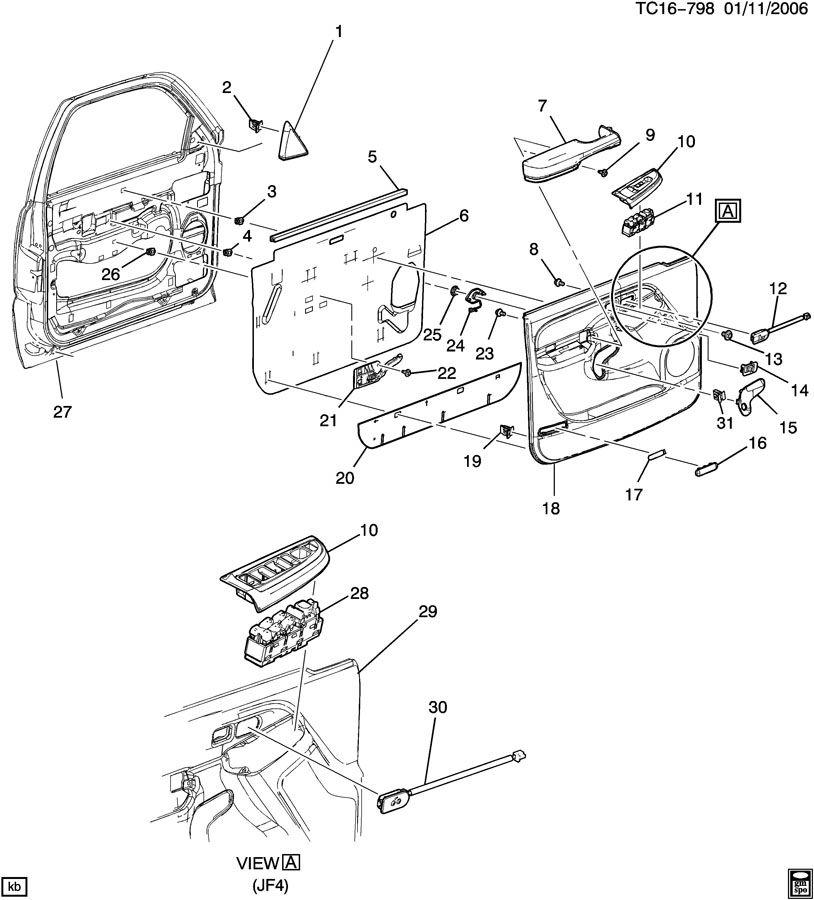 2003 Chevrolet SUBURBAN Lever. Door lock remote. Lever