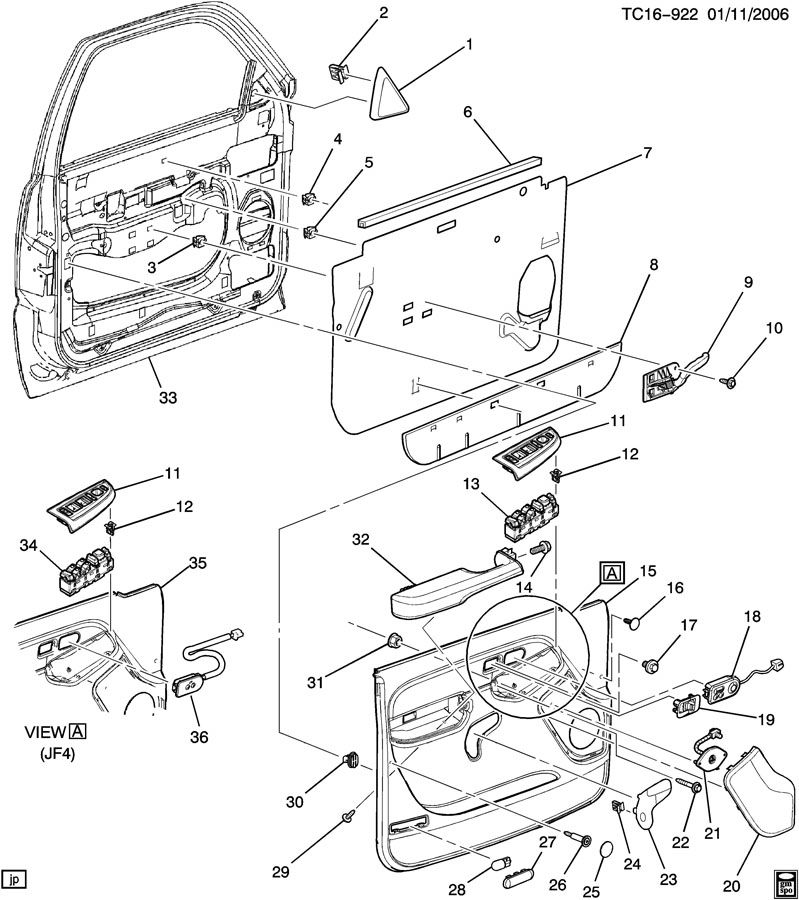 Chevrolet Silverado DOOR TRIM/SIDE FRONT-DRIVER