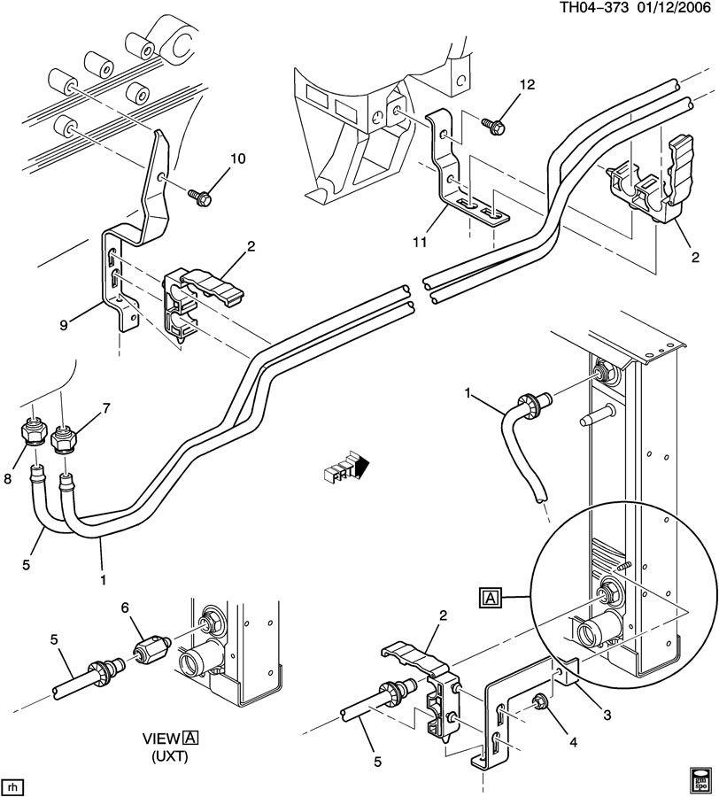GMC C7500 Hose. Transmission oil cooler. Hose, trans fluid